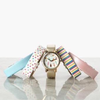 SM Accessories Girls Ice Cream Interchangeable Strap Watch