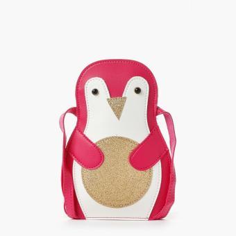 SM Accessories Girls Penguin Sling Bag (Light Pink)