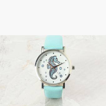 SM Accessories Girls Seahorse Analog Watch (Turquoise)