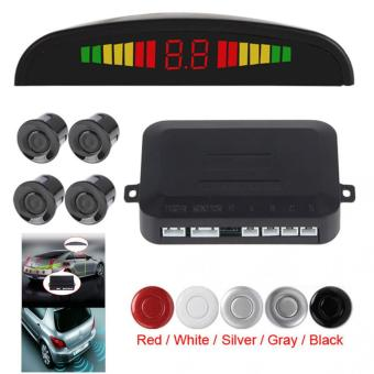 Small Ultrasonic Reverse Parking Sensor System with Audible Alarm (Black)
