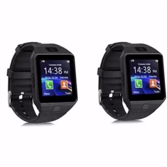 Smart Watch Bluetooth For Android and IOS With Sim Card Slot(Black) DZ09 Set of 2