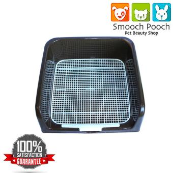 Smooch Pooch 3 - Sided Potty Wee Wee Training Tray For Your Pet Puppy Dog Kitten Cat (Brown)