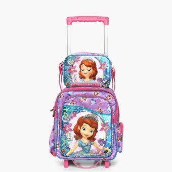 Sofia the First Girls Trolley Backpack with Lunch Bag