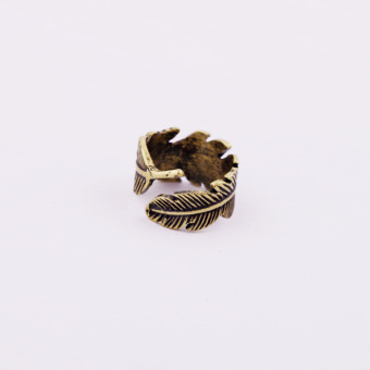 Soft cat double couple's ring bronze color