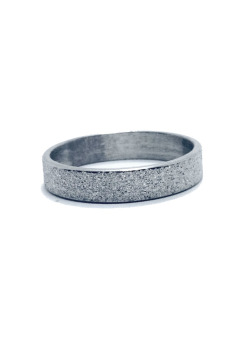 Soleful by Cez Stainless Steel Sandblasted Ring (Silver) - picture 2