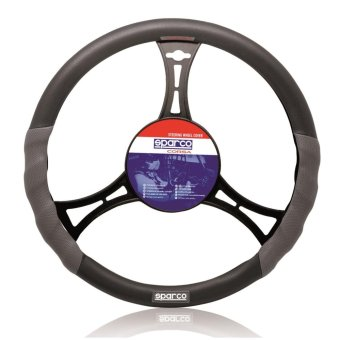 Sparco SPC1101L Steering Wheel Cover (Gray/Black)