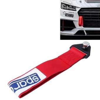 Sparco Universal Front Rear Racing Car Tow Towing Strap Bumper Hook Up To 10000 LBS(4.5T)(Red) - intl