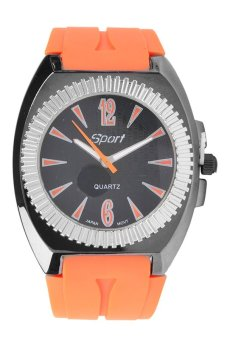 Sport Men's Orange Rubber Strap Watch JL0007 B