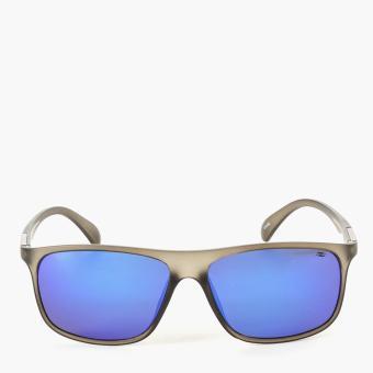 Spyder Mens Hudson 9A080 Sunglasses (Matte Crystal Smoke/Chrome Blue)
