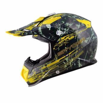 Spyder Motocross Helmet Brawl G 483 (Green/Yellow)-Large - 5
