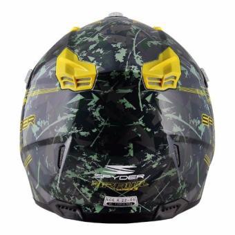 Spyder Motocross Helmet Brawl G 483 (Green/Yellow)-Large - 3