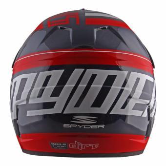 Spyder Motocross Helmet Dirt G 765 (Navy Blue/Red/White) -Large - 3
