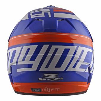 Spyder Motocross Helmet Dirt G 795 (White/Blue/Orange) -Medium - 3