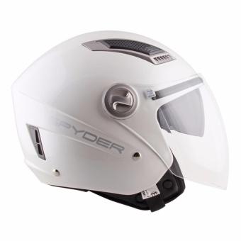 Spyder Open-Face Helmet with Dual Visor Titan PD 100 (White) -XL