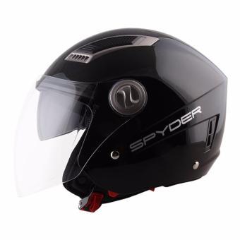 Spyder Open-Face Helmet with Dual Visor Titan PD 300 (Black) -XL - 5