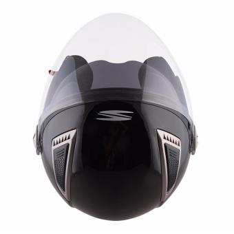 Spyder Open-Face Helmet with Dual Visor Titan PD 300 (Black) -XL - 4