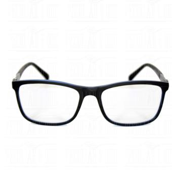 Square Clear Lens Replaceble Eyeglass with Spring Hinges Unisex_E126_BlackBlue - 2