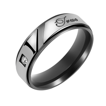 """Stainless Steel """" True Love """" Engagement Ring Couple Wedding Jewelry US 7 - picture 2"""