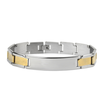 Stylish guy's Korean-style wide titanium steel men's bracelet