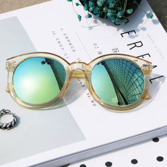 SUN Korean-style women colorful reflective Sunglasses Glasses