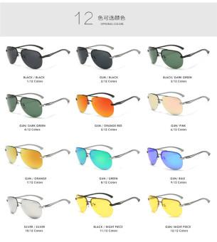 Super Aluminum Magnesium Polarized Men's Square Male Sun glasses Driving Eyewear Outdoor Sports Goggle Sunglasses aviator 3025 polaryte hd - intl - 5