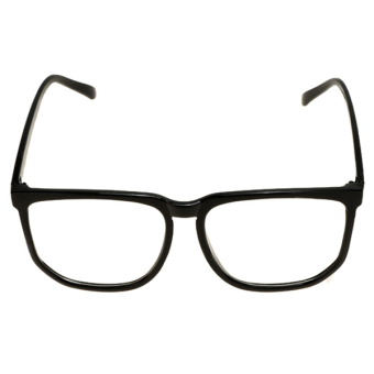 Supercart Clear Lens Plain Glasses Black (Intl)