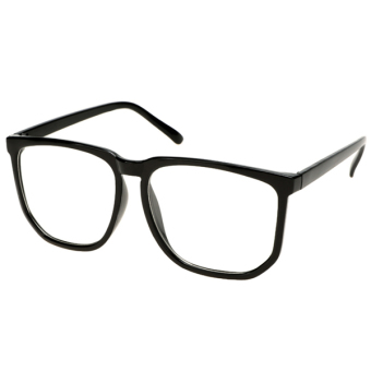 Supercart Clear Lens Plain Glasses Black (Intl) - picture 2