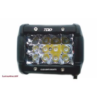 TDD 12 LED Work Light Bar/Auto Car/Motorcycle Fog Light Lamp36W