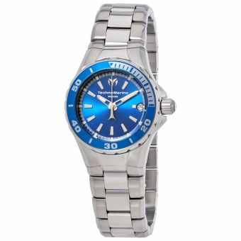 TechnoMarine Sea Manta Blue Dial Silver Stainless Steel Women's Watch 215006