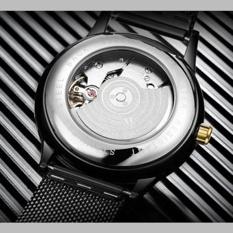 TEVISE Men Watches Gold Mesh Steel Automatic Mechanical Watch Luxury Brand Waterproof Men Watch Calendar Clock Relogio Masculino 9017 - intl - 4