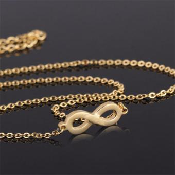 Than's Charming Gold Infinity Necklace - 2