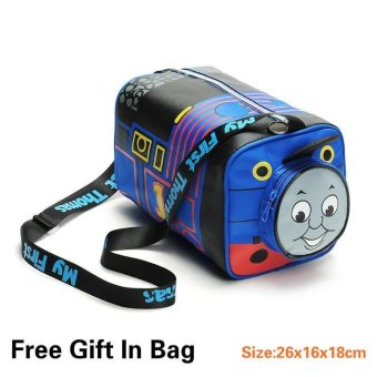Thomas Train <= 5 Years Old Kids Canvas School Travel ShoulderBags(Color:Blue) - intl