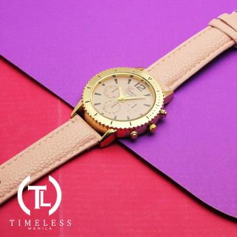 Timeless Manila Jennifer Chrono Leather Watch (Old Rose) - 2