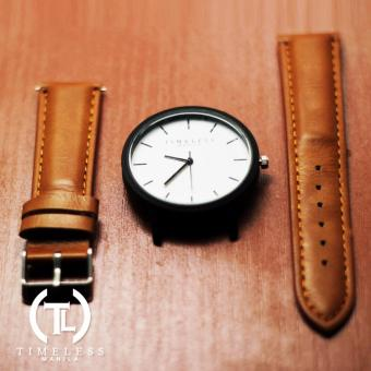 Timeless Manila Jules Linear Leather Watch (Brown) - 3