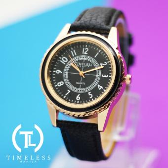 Timeless Manila Lucy Leather Watch (Black)