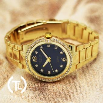 Timeless Manila Patricia Crystal Studded Metal Watch (Navy Blue) with Free Timeless Manila Watch Box - 3