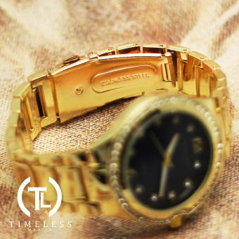 Timeless Manila Patricia Crystal Studded Metal Watch (Navy Blue) with Free Timeless Manila Watch Box - 4