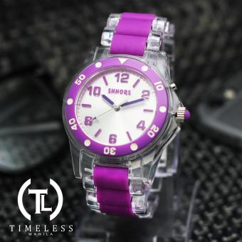 Timeless Manila Vibrant Shhors Casual Analog Wrist Watch (Purple Clear)