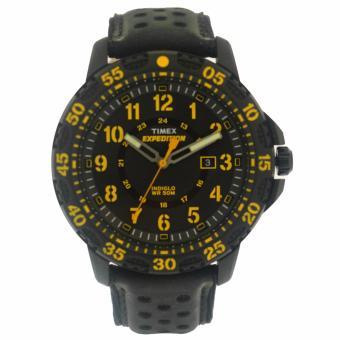 Timex Mens Black Leather Watch TWH0Y2210