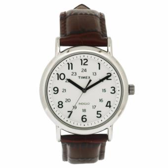 Timex Unisex Brown Leather Watch TWH0Y3410