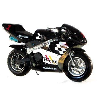 Tinker Motors GPX 49cc Pocket Rocket Sports Bike (Black/White)