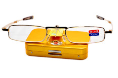 4cde365641e ... Xcsource Uv400 Polarized Glasses Outdoor Sports Driving Sunglasses  Source TINY MINI STEEL CASE FOLDABLE TRANSFORMABLE PORTABLE