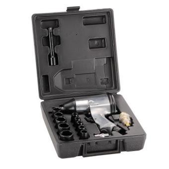 Titan Supertools 1/2 In. 17 pcs Pneumatic Air Impact Wrench Set Kit