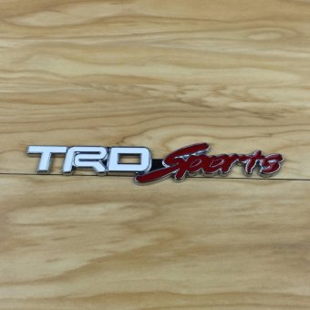 Toyota TRD Sports White Emblem Stick On