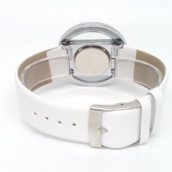 Transparent Dial Faux Leather Wrist Watch (White) - picture 2