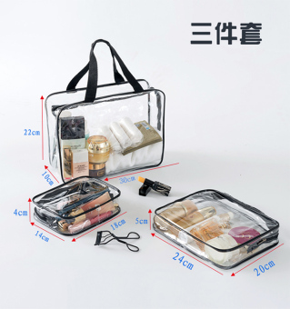 Transparent female waterproof portable bath bag travel wash bag