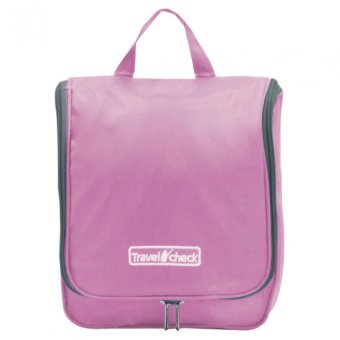 Travel Check Multi-functional Travel Kit Organizer Bag (Pink)