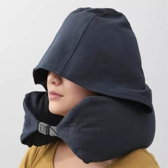 Travel Hooded Neck Pillow U-Shaped Neck Support for Car and Airplane - intl Price Philippines