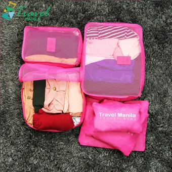 Travel Manila 6 in 1 Packing Bags (Fuchsia)