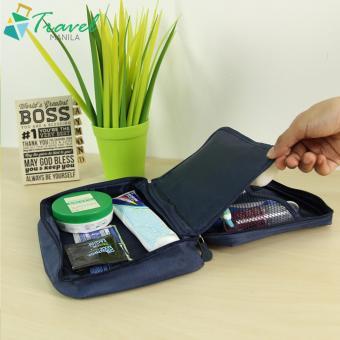 Travel Manila Cosmetic Toiletry Case Organizer (Navy Blue) - 3